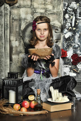 The young witch conjures