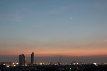 Cityscape Sunset tone sky