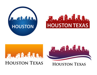Houston City Skyline Logo Template