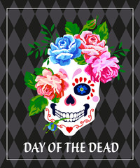 Day of the dead invitation vector poster. Dia de los muertos. .
