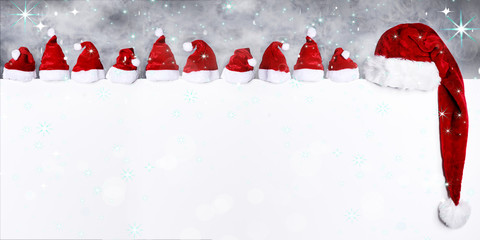 Weihnachten mit Nikolausmützen