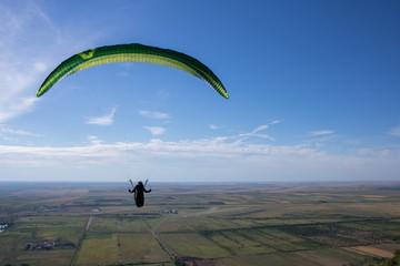 Foto op Aluminium Luchtsport Flying paragliders