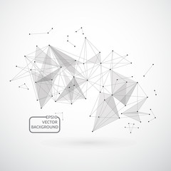 Abstract background for design technology and networking science