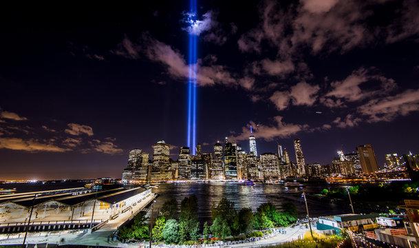 New York light beams, 9-11