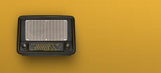 Vintage radio header