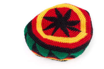 rastamana's hat isolate on white background