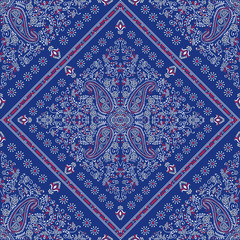 seamless paisley square kerchief ornament