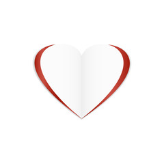 Happy Valentine's Day Card on the white background