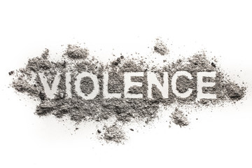 Violence word as psychological, physical or emotional aggression