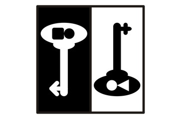 man and woman key lock