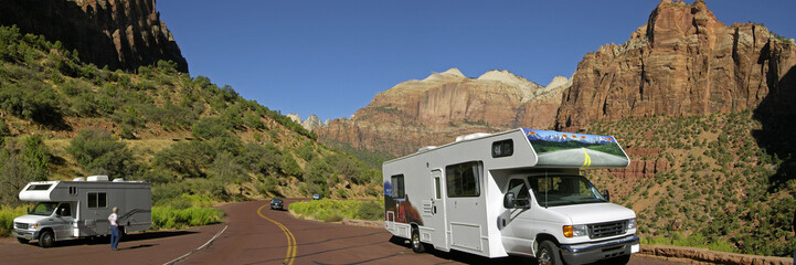 Moterhome at Zion National parc Utah America