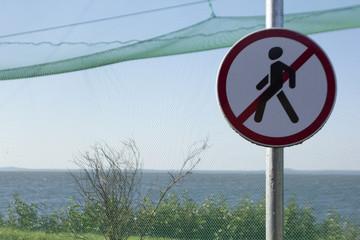 No Walking traffic sign