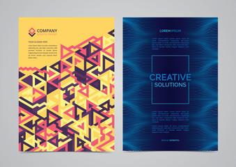 Abstract brochure template layout design. Creative modern vector illustration.