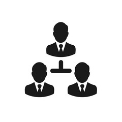 Business teamwork icon. Business network. Business concept graphic. Vector stock.