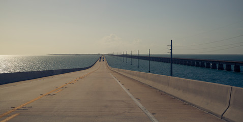 Highway running along the tropical islands #1