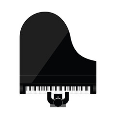 man icon playing piano instrument illustration