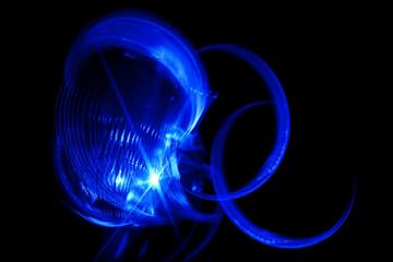 blue spinning light