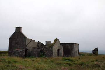 Remains of a castle watchtower, Ireland
