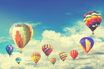 Hot air color balloon