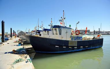 Chipiona fishing port, Cadiz province, Spain