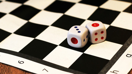The dice and chess, children's play