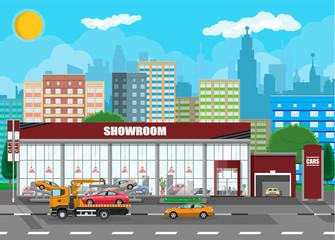 Exhibition pavilion, car dealership