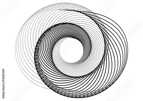 abstract round spiral template for the logo stock image and