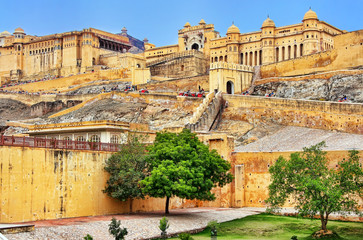 Foto auf Leinwand Befestigung Amber Fort near Jaipur in Rajasthan, India