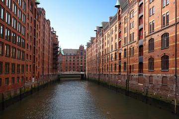 The Hamburg warehouse district