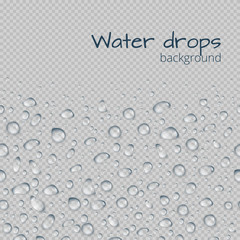 Background with drops of water