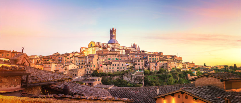Colorfull Sunset in Siena, Tuscany - Italy