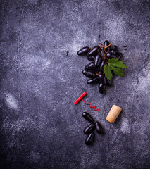 Grapes, corkscrews and cork