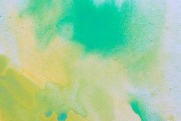 watercolor background, green yellow. with a paper texture for the background.