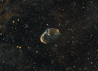 NGC 6888 or better known as Crescent Nebula.
