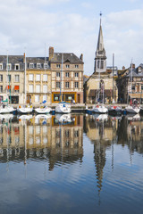 Wall Mural - Honfleur Vieux Bassin in Normandy Normandie France