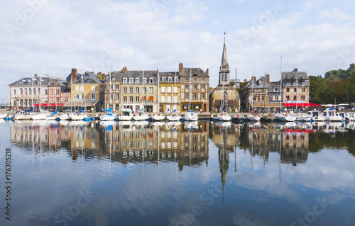 Wall mural Honfleur Vieux Bassin in Normandy Normandie France