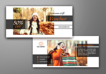 Autumn Gift Voucher Layout