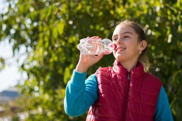 Girl drink water