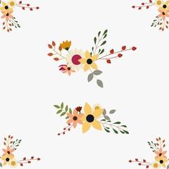 elegent floral boquets set