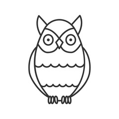 Owl linear icon