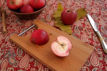 Ripe autumn apples, sweet, juicy, crisp