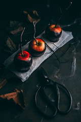 Halloween caramel apples