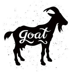 Goat silhouette 002