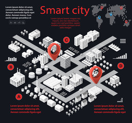 Infographic Smart city isometric concept