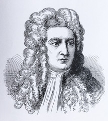 Portrait of the scientist Sir Isaac Newton