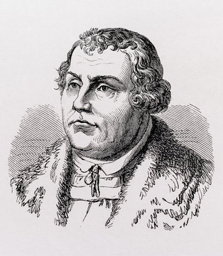 Portrait of the Protestant philosopher Martin Luther