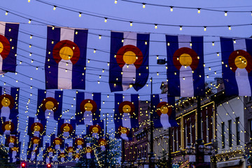 Colorado Flags on Larimer Square Denver