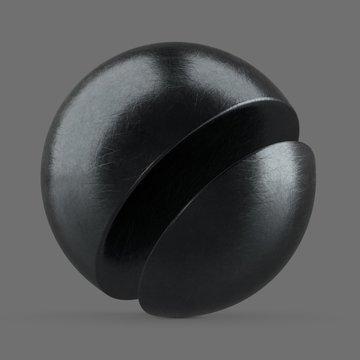 Dark grey scratched aluminum