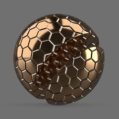 Large bronze hexagon tiles