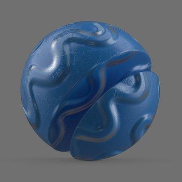 Blue wavy rubber